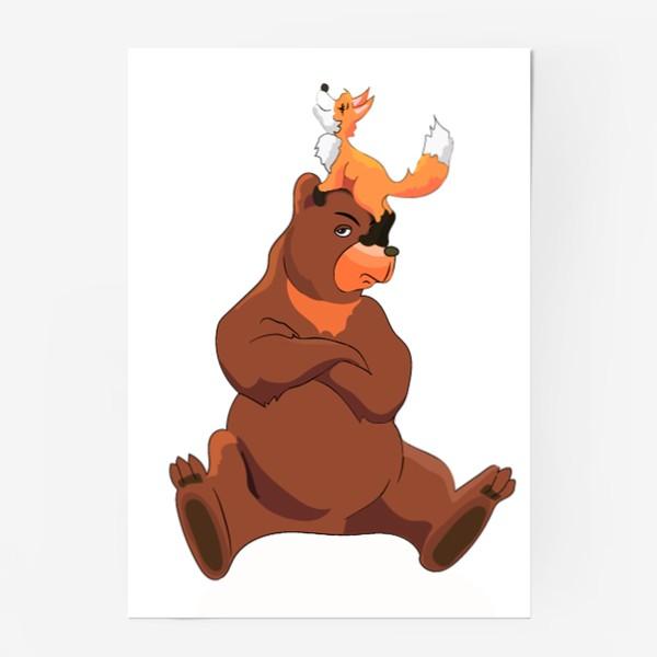 Постер «Медведь и лиса»