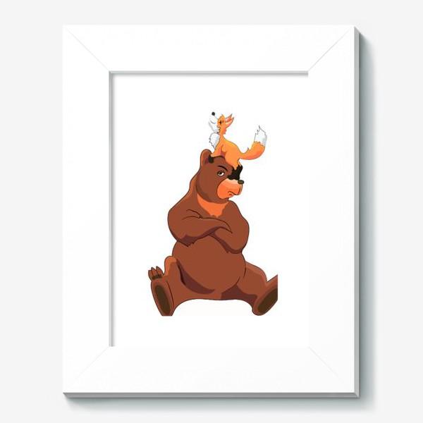 Картина «Медведь и лиса»