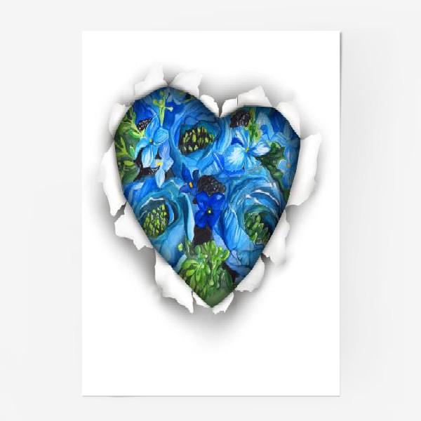 Постер «Сердце голубых цветов»