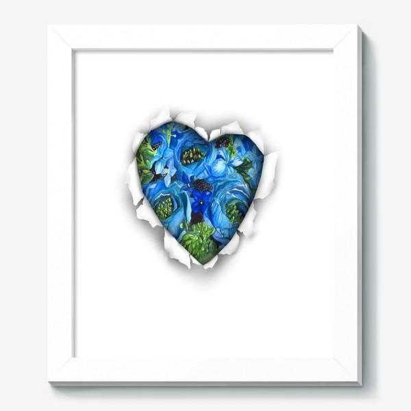 Картина «Сердце голубых цветов»