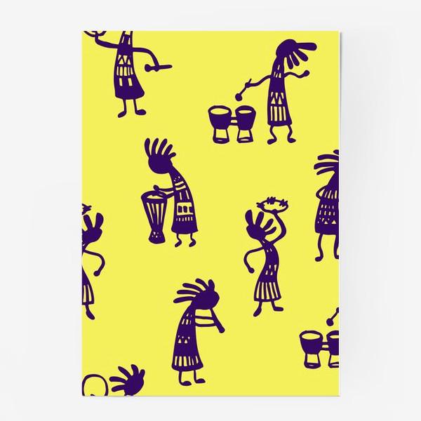 Постер «African musicians»
