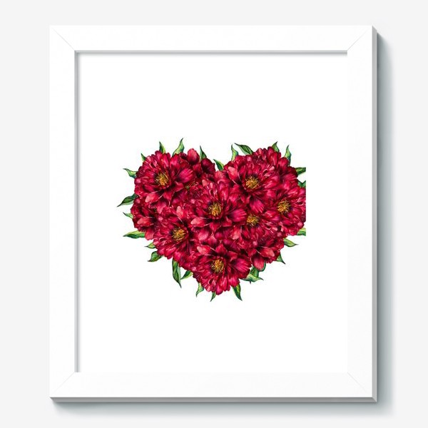Картина «Сердце из пионов 4 (Heart of peonies)»