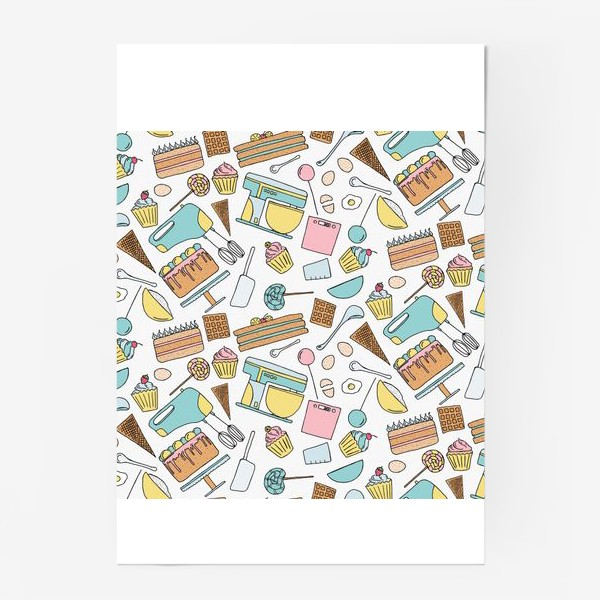 Постер «Люблю готовить. Кондитерская. Тортики, капкейки, леденцы»