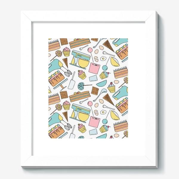 Картина «Люблю готовить. Кондитерская. Тортики, капкейки, леденцы»