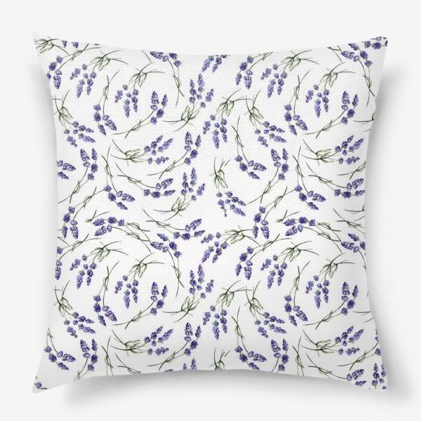 Подушка «Лавандовый паттерн»