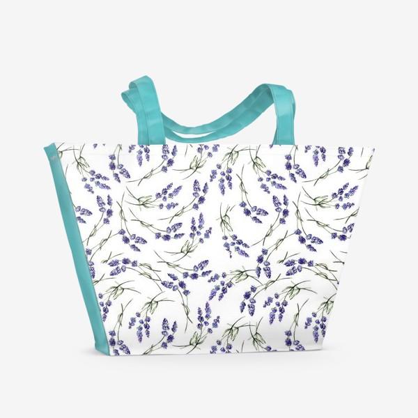 Пляжная сумка «Лавандовый паттерн»