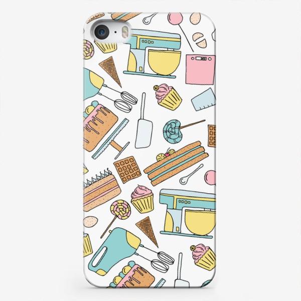 Чехол iPhone «Люблю готовить. Кондитерская. Тортики, капкейки, леденцы»