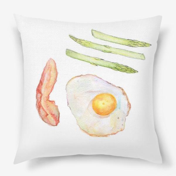 Подушка «Завтрак. Breakfast.»