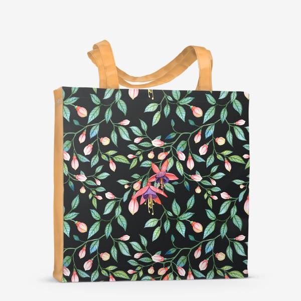 Сумка-шоппер «Паттерн цветков фуксии. Fuchsia pattern»