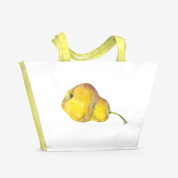 Пляжная сумка «Жёлтая груша. Yellow pear»