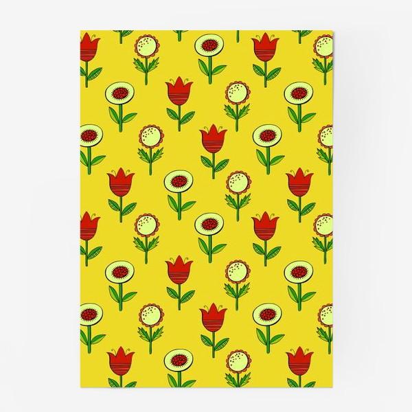 Постер «текстура милые цветочки»