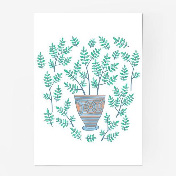 Постер «цветок в горшке»