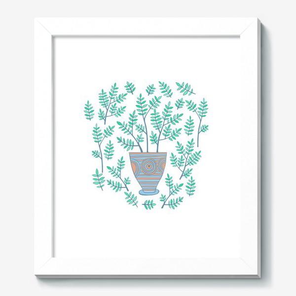 Картина «цветок в горшке»