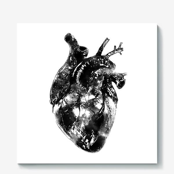 Холст «Послушай как бьётся сердце...»