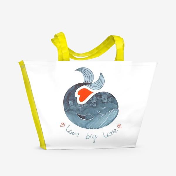 Пляжная сумка «Большая любовь»