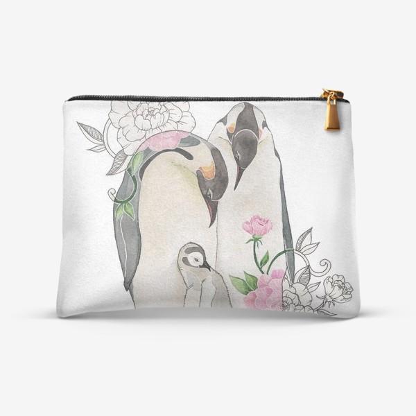 Косметичка «Пингвины»