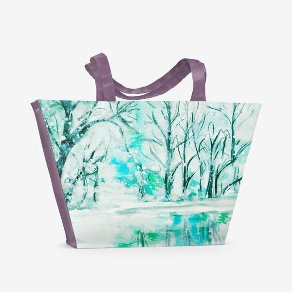 Пляжная сумка «Кристальная река. Crystal river.»