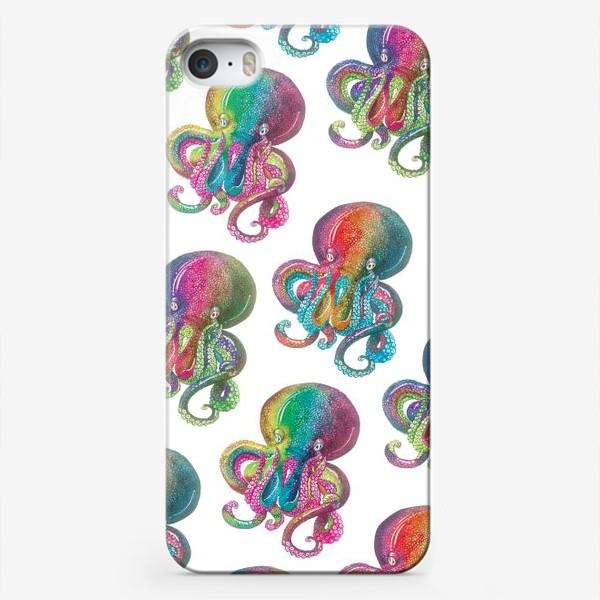 Чехол iPhone «Радужный осьминог»