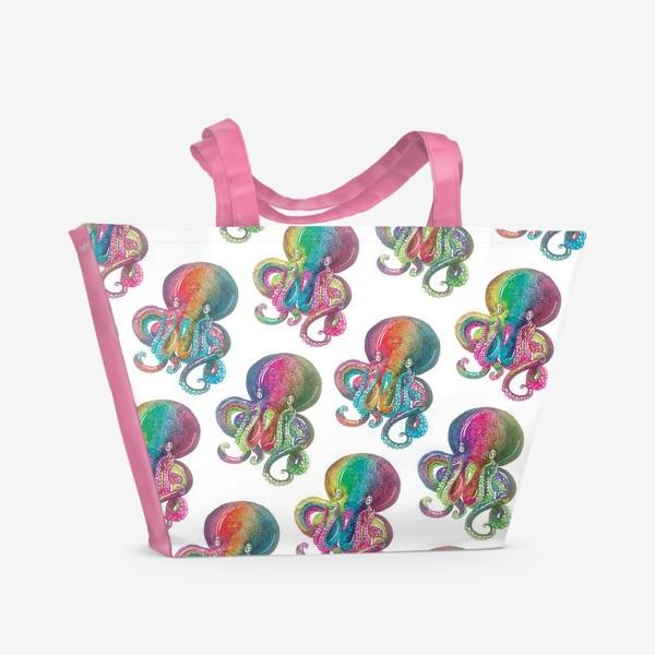 Пляжная сумка «Радужный осьминог»
