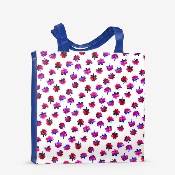 Сумка-шоппер «Красные цветочки»