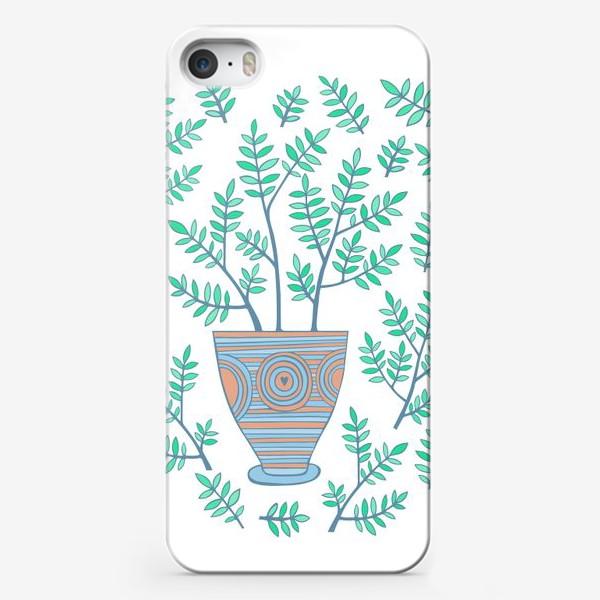 Чехол iPhone «цветок в горшке»