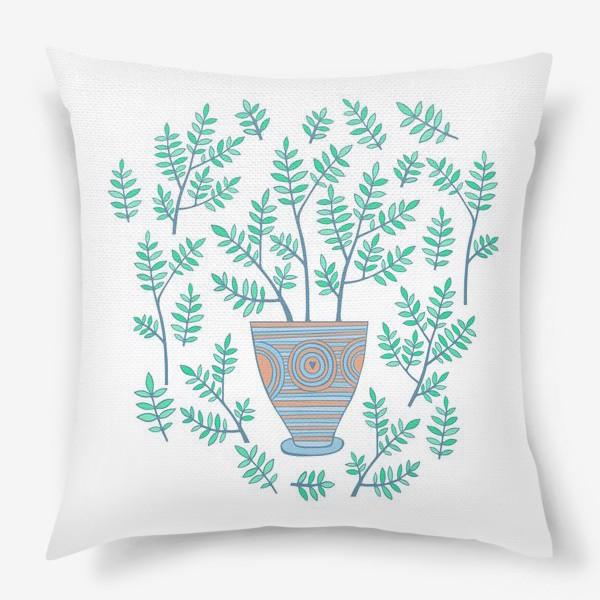 Подушка «цветок в горшке»