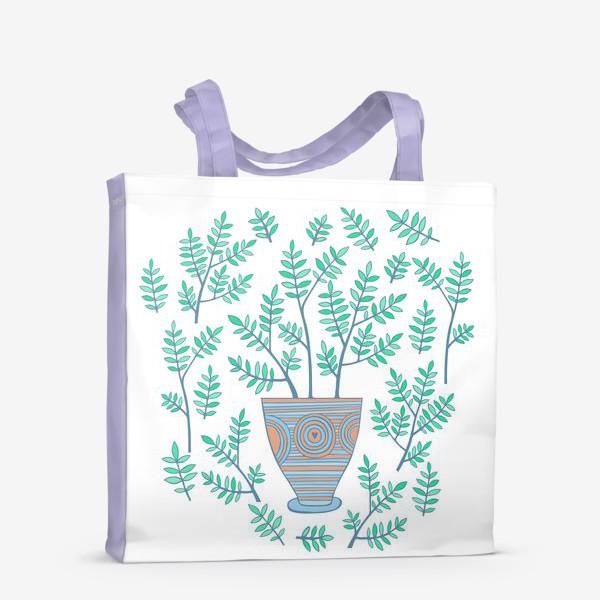 Сумка-шоппер «цветок в горшке»