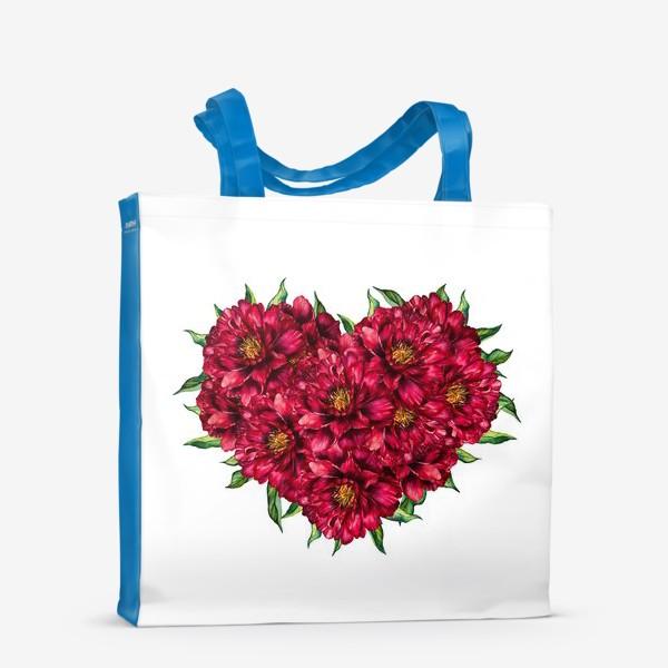 Сумка-шоппер «Сердце из пионов 4 (Heart of peonies)»