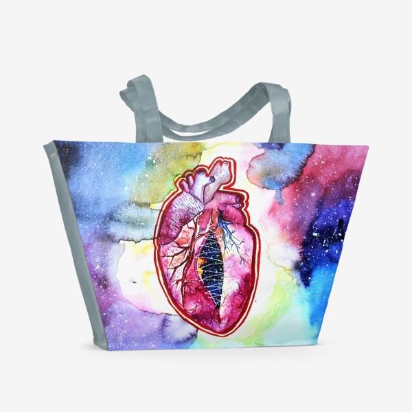 Пляжная сумка «Космическое сердце»