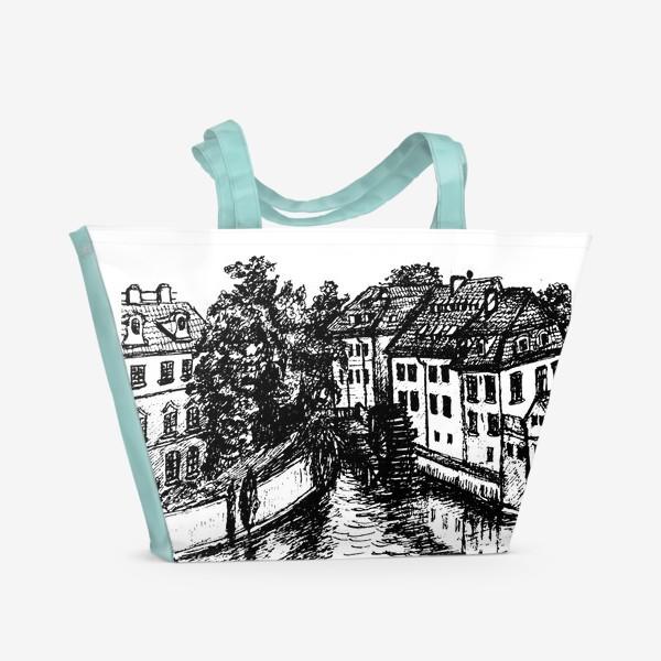 Пляжная сумка «Prague walks»