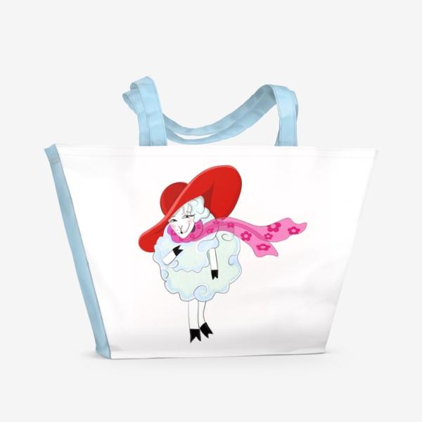 Пляжная сумка «Овечка»