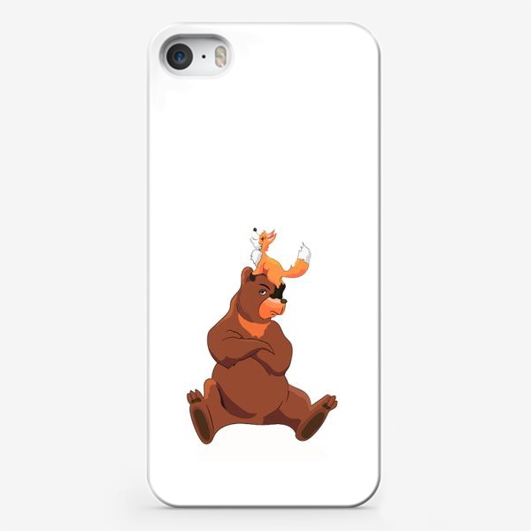 Чехол iPhone «Медведь и лиса»