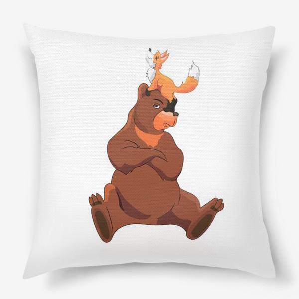 Подушка «Медведь и лиса»