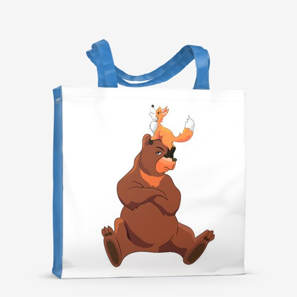 Сумка-шоппер «Медведь и лиса»