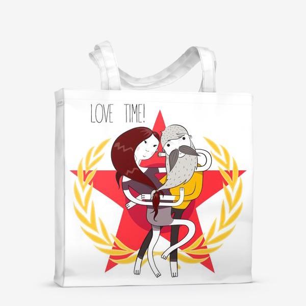 Сумка-шоппер «Love time!»