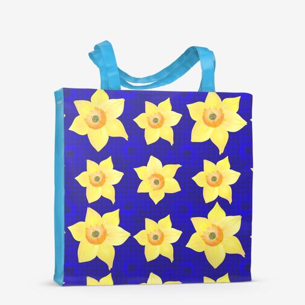 Сумка-шоппер «Красивые желтые нарциссы на интересном »