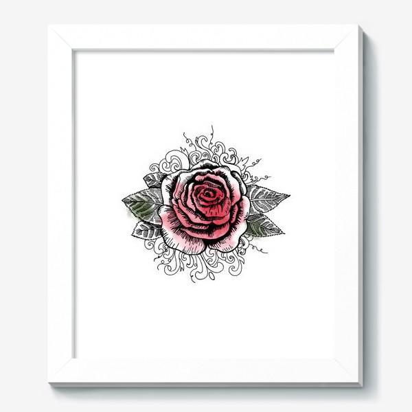 Картина «Роза в графике»