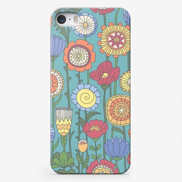 Чехол iPhone «Дудлоцветочки»