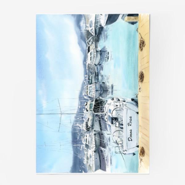 Постер «Пейзаж с яхтами в море. Черногория»