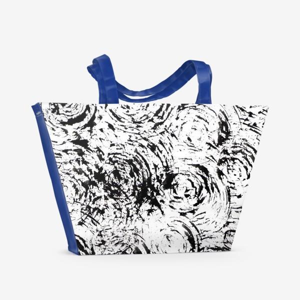 Пляжная сумка «круги и штрихи»