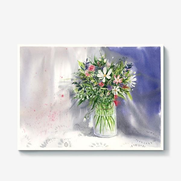 Холст «Букет из полевых цветов»