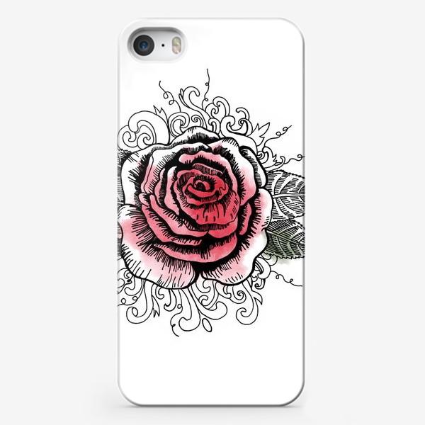 Чехол iPhone «Роза в графике»