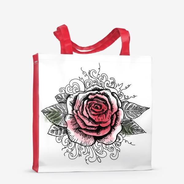 Сумка-шоппер «Роза в графике»