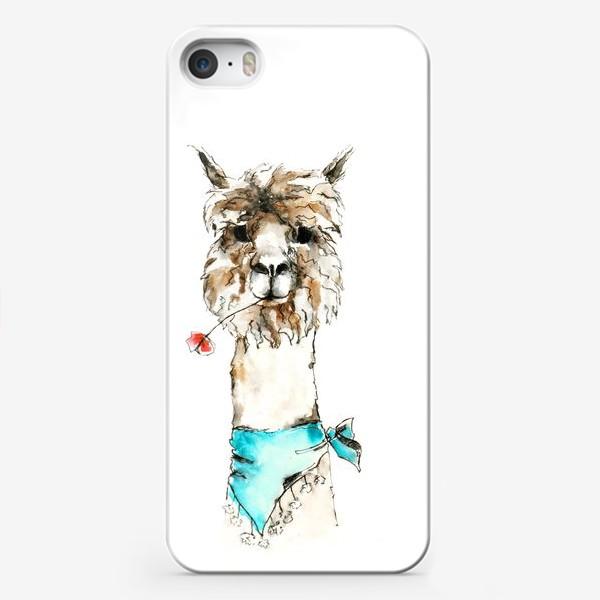 Чехол iPhone «Жизнерадостная альпака»