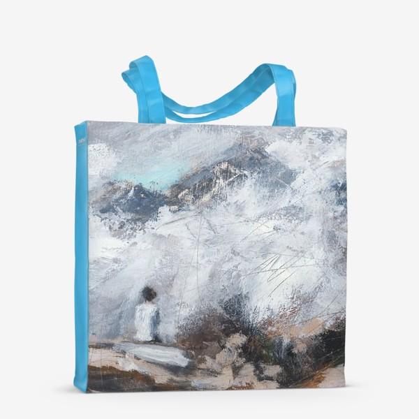 Сумка-шоппер «Девушка в горах»