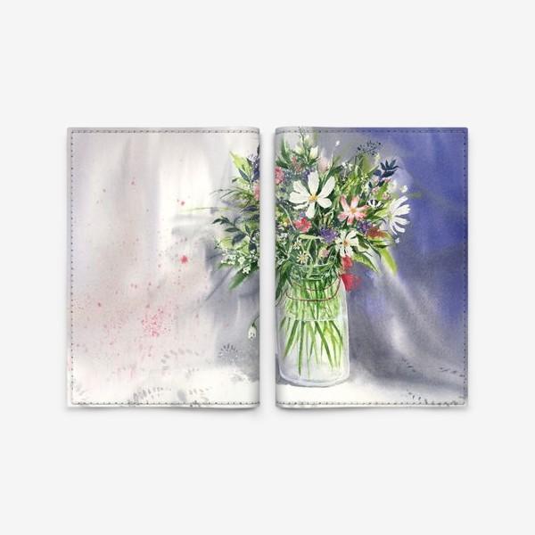 Обложка для паспорта «Букет из полевых цветов»