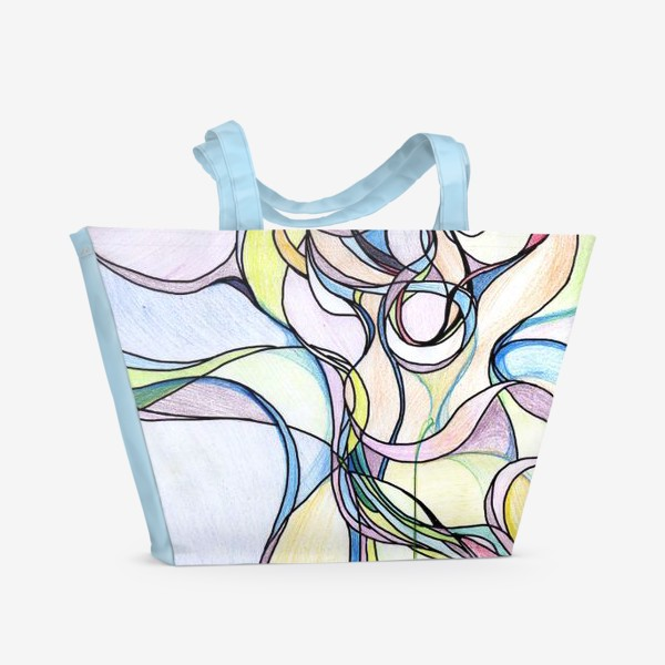 Пляжная сумка «Разноцветная абстракция »