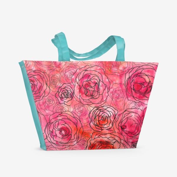 Пляжная сумка «Roses»