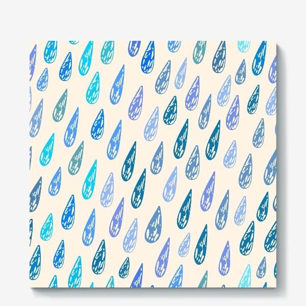 Холст «Дождь паттерн»