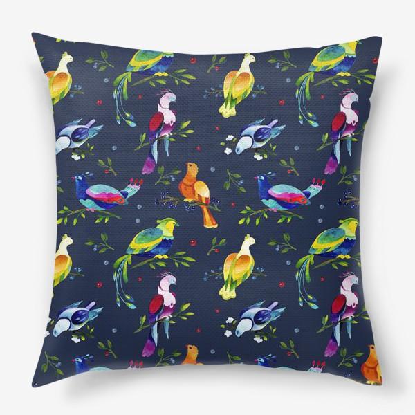 Подушка «Фантастические птицы»